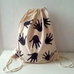 Eller - El Baskısı Backpack Çanta, Tote