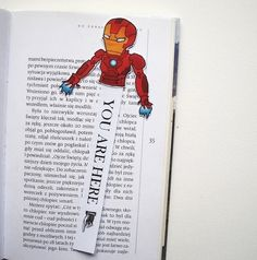 Iron man marvel bookmark avengers comic books by BigNerdWolf