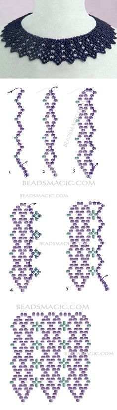 Free pattern for necklace Beatrice nyaklánc Beading Patterns Free, Seed Bead Patterns, Beading Tutorials, Free Pattern, Bead Jewellery, Seed Bead Jewelry, Seed Beads, Wire Jewelry, Boho Jewelry
