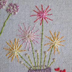 Beautiful flowers embroidery pattern PDF by LiliPopo on Etsy