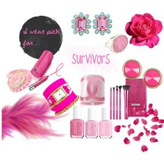"""""""I WEAR PINK FOR..."""" by lawson-d on Polyvore"""