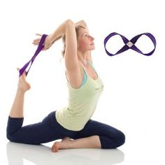 """Our Yoga Strap is YOGIAPPROVED! Check out this article Yoga Props to Enhance Your Practice"""" and see why the Infinity Strap is a must-have! Yoga Strap, Yoga Props, Lower Abs, Yoga Meditation, Stretches, Exercises, Infinity, Poses, Fitness"""