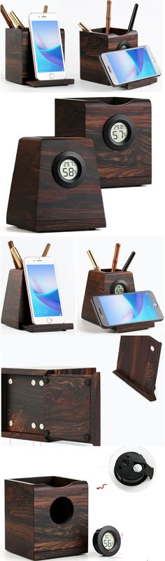 Wooden iPhone Cell Phone Stand Holder Minimalist Vase Office Desk Organizer Pen Pencil Holder Stand Collection Flower Pots Succulent Planter Planters Art Deco style that add a modern Vase look to your home decor. Pencil Cup Holder, Cool Office Supplies, Smartphone Holder, Cell Phone Stand, Cute Notebooks, Desk Organization, Pen Holders, Office Gifts, Flower Pots
