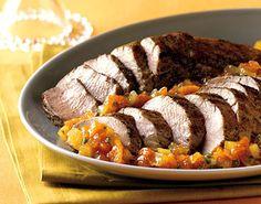 Roasted Pork Tenderloin with Kumquat-Jalapeño Marmalade / Brian Leatart