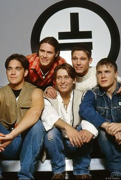 Robbie Williams, Howard Donald, Mark Owen, Jason Orange and Gary Barlow .