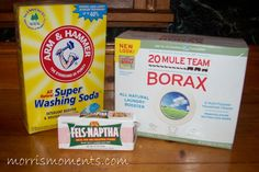 Homeade Laundry Detergent http://www.greatoakcircle.com/homemade-laundry-detergent also the duggars have a recipe.