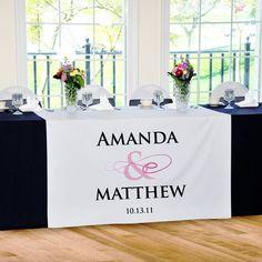 Flourish Customised Wedding Table Runner