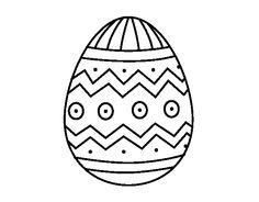 Dibujo de Huevo de Pascua con estampados para colorear Coloring Sheets, Coloring Pages, Gourds, Embroidery Patterns, Arts And Crafts, Margarita, School, Ideas Para, Origami