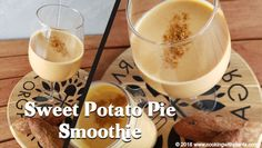 This sweet potato pie smoothie is so tasty and simple to make. It is low fat and full of nutrients. This is the ultimate clean eating breakfast and is great as a vegan . Clean Eating Breakfast, Breakfast Smoothies, Vegan Breakfast Recipes, Vegan Recipes, Potato Pie, Sweet Potato, Apple Smoothie Recipes, Vegan Shakes, Eating Vegan