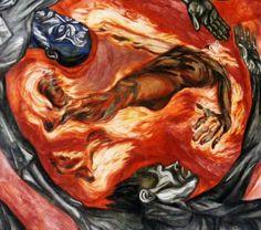 """""""El hombre en llamas"""" (1939) mural José Clemente Orozco"""