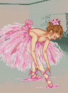 cross stitch patterns of ballerina | Maria Diaz Designs: Ballerina II (Cross-stitch chart)