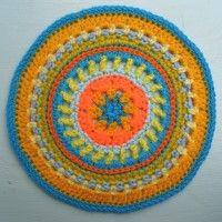 Crochet Mandala Wheel made by Vicky, Japan, for yarndale.co.uk