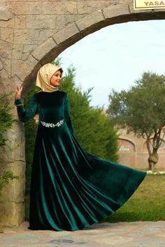 Green & Gold Hijab