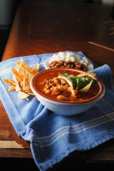 Pozole de Frijol... a vegetarian version of this traditional mexican dish