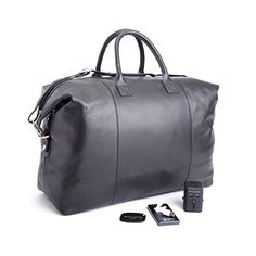 ROYCE Luxury Travel Set  Lightweight, Expandable Duffel Bag with  Bluetooth-based Tracking Device e0540ae4d4