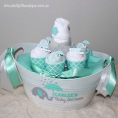 A personal favourite from my Etsy shop https://www.etsy.com/au/listing/251166170/personalised-baby-gift-basket-small-baby
