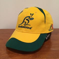 9962df510893f Wallabies Australia The Rugby Championship Castrol Edge Yellow Strapback  Cap Hat