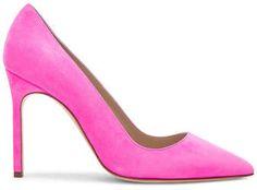 Shop for Manolo Blahnik Suede BB 105 Heels in Neon Pink Suede at FWRD. Hot Pink Heels, Sexy Heels, Stiletto Heels, High Heels, Shoes Heels Boots, Heeled Boots, Flip Flop Boots, Manolo Blahnik Heels, Shoe Company