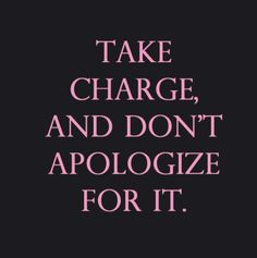 Are you taking charge?