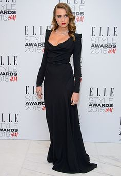 Red carpet looks from the Elle UK Style Awards 2015: Cara Delevingne