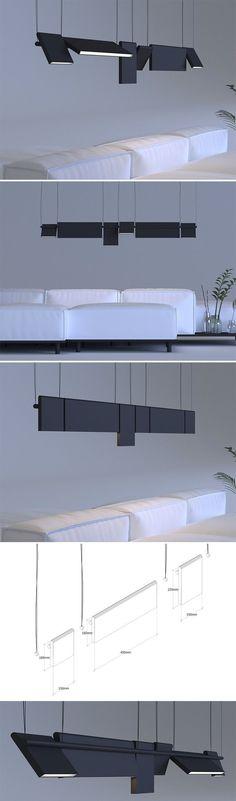 Die Axis-Leuchte ist ein schönes Beispiel dafür wie modulares und intelligentes Design einen Raum verändern kann. jedes der rechteckigen lichter kann getauscht werden