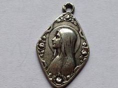Art Nouveau Immaculate Mary of Lourdes Vintage by CherishedSaints, $52.00