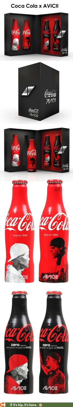 Coca Cola X AVICII limited edition gift set.