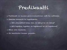 Lauseenjäsenet: predikaatti - YouTube