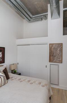 Concrete Ceiling, Lake Shore, Art Deco Buildings, Bedroom Loft, Window Wall, Workout Rooms, Lofts, Building Design, Toronto