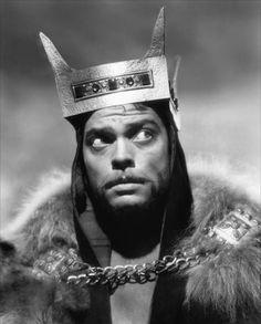 Orson Welles in Macbeth c.1948