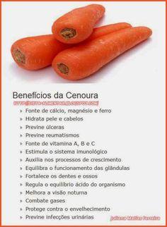 Benefícios da cenoura para a saúde