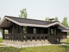 Баня в г. Валуйки - проект компании Буковель Bahay Kubo, Garage House, Cabin Homes, House In The Woods, Modern House Design, Ranch, House Plans, Shed, Outdoor Structures