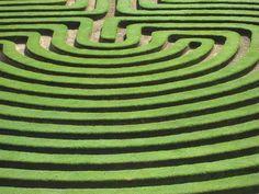 Fantastic photograph of cockington green labyrinth