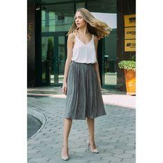 Brown plisse skirt