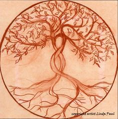 Tree of Life sketch by artist Linda Paul