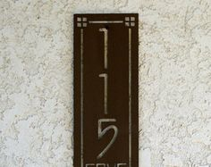 Vertical Personalized Metal Address Sign - Custom Address sign