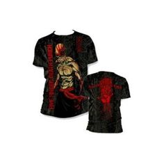 Five Finger Death Punch Ninja Mens All Over Print Tee - Knuckleheads everywhere will love this Five Finger Death Punch Ninja Mens All Over Print T-Shirt, which is patterned with artwork on all sides.