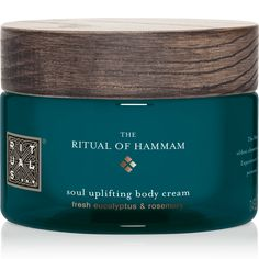 The Ritual of Hammam Body Cream nourishes the skin. Gives the skin a silky soft feeling. Enriched with revitalising organic Eucalyptus and Rosemary. Eucalyptus Globulus, L Eucalyptus, Parfum Rose, Fragrance Parfum, Holi, Lotion For Dry Skin, Body Lotion, Ayurveda, Karma