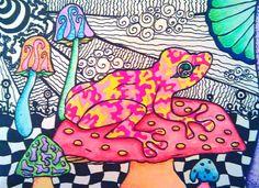 Hallucinogenic Frog by HallucinogeniusVMJP.deviantart.com on @DeviantArt