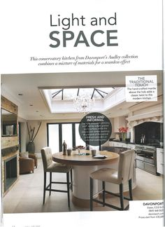 Davonport's Audley collection kitchen as featured in Period Idea's 100 Beautiful Kitchens magazine.