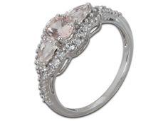 Morganit-Ring mit Weißtopas