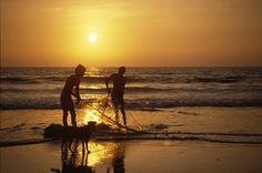 Sonnenuntergang, Goa, Indien, Calangute, Sundown