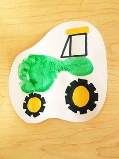 Tractor footprint. Infant classroom. Infant art projects. Preschool Art Projects, Classroom Art Projects, Toddler Art Projects, Preschool Crafts, Projects For Kids, Art Classroom, Toddler Crafts, Tractor Crafts, Farm Crafts