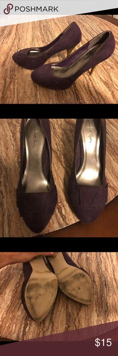 Dark purple high heeled pumps Charlotte Russe dark purple pumps.  Worn occasionally in office setting, in good condition. Charlotte Russe Shoes Heels