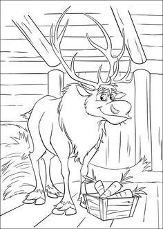 Desenhos para colorir para crianças. Desenhos para imprimir e colorir Frozen 19