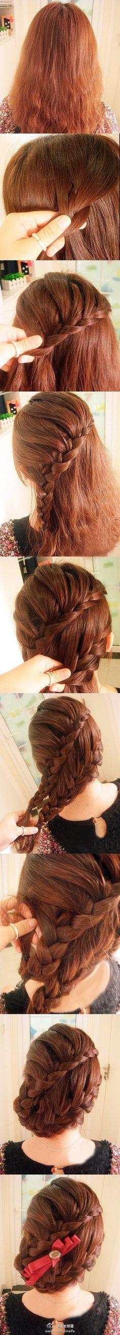 double braids updo