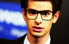 CUTIE :) andrew garfield with glasses