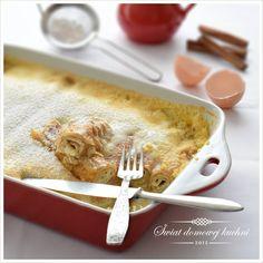 Naleśniki z serem zapiekane z sosem waniliowym