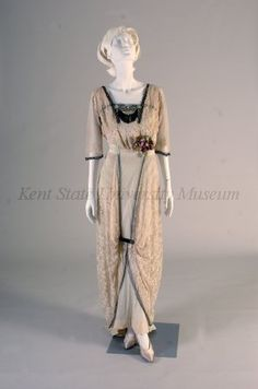 Old Rags - Evening dress, ca 1912 France, Kent State