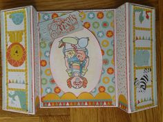 Kinderverjaardagskaart in circus thema